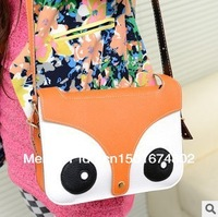 Free Shipping  Lovely small fox fashion bag bag inclined shoulder bag one shoulder tide female bag