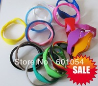 100pcs/lot Energy Silicone Bracelet Sport Anion Power Wristband Two Holograms Bracelet + Blue Retail Box