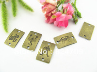 Free Shipping Vintage Pendant,Antique Bronze Charms Pendant ,Carving Alloy Connector Findings Fit Bracelet  DIY Fashion