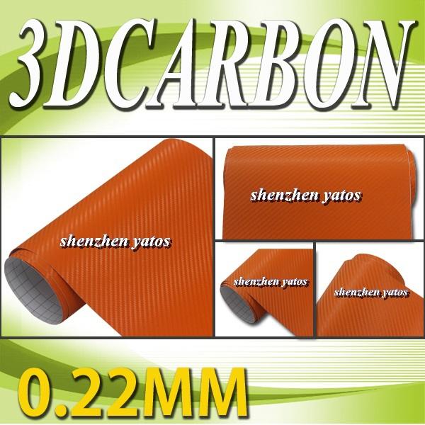 0.22MM Air Bubble Free Carbon Vinyl Wrap 1.52*30m,3M Vinyl Stickers(China (Mainland))