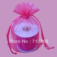 Wholesale 100pcs/lot 26x39cm Hot Pink Large Organza Bag Plain Gauze Pouch Christmas Wedding Favor Drawstring Bag Free Shipping
