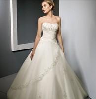 free shipping 2013 tube top wedding dress train wedding dress fashion Crystal sexy dress Big size wedding dresses S M L XL XXL