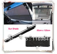 New Side Rear Window Retractable Sun Shade for Auto Car Black 50*125CM