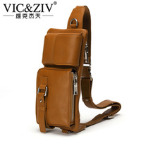 New arrival 2013 outside sport cowhide waist pack general genuine leather shoulder bag messenger bag chest pack man bag