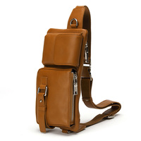 New arrival cowhide waist pack genuine leather outside sport messenger bag shoulder bag chest pack general man bag