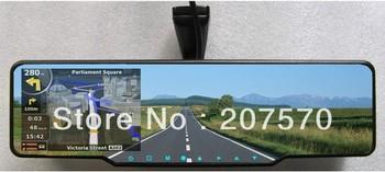Parking sensor & Rearview Mirror 4 Parking Sensors Car Backup Reverse Radar Rearview Mirror,GPS,free shipping