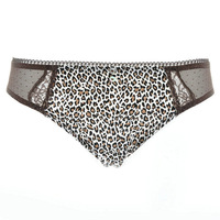 Free shipping 1pcs High quality Leopard print gauze sexy plus size panty briefs women's underwear