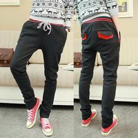 New 2013 Fashion autumn -summer Mens Harem Pants Men Sport Suit Pants Trousers Pants Casual Slacks Black Grey Red