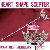wholesale heart shape scepters pageant scepter rhinestone scepter princess scepter mk018