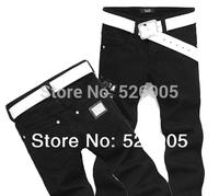 hot!2013 new arrival men's fashion black jeans famous brand,cotton denim slim straight trousers designer jeans man large size 38