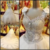 2013 sparkling sexy wedding dress bandage tube top train wedding dress bride xj15