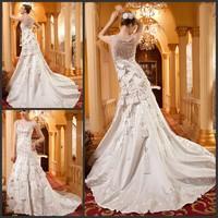 2013 sparkling sexy wedding dress bandage tube top train wedding dress bride xj46