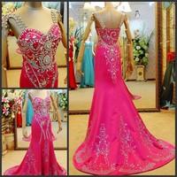 Ultimate luxury crystal formal dress formal dress toast the bride married formal dress evening dress xj0970
