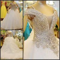 2013 sparkling strap tube top train wedding dress bride xj10866