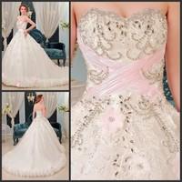 2013 bandage tube top wedding dress princess big train wedding dress xj2289