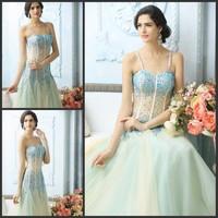 Ultimate luxury crystal formal dress formal dress toast the bride married formal dress evening dress xj05471