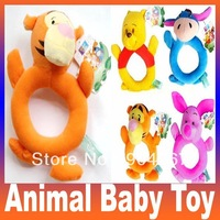Free Shipping 1PC Cute Cartoon Animal Model Baby Infant Puppet Handbell Kids Plush Toy