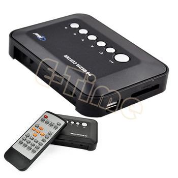 Hot!! 3pcs/Lot 720p HD Multi Media Player Movie Center RM/RMVB/AVI/MPEG/MP3/MP4 TV Player USB SD/MMC Wholesale 4243