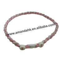 100pcs/lot new item popular student sport necklace,Universities,3 rope braided necklace,DHL/FedEx/EMS free shipping
