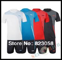 2sets! Brand LUWINT Men Tennis jersey,Badminton jersey,O-Collar T-shirt,Sports Leisure Suit,Sportwear (Include T-shirt & shorts)