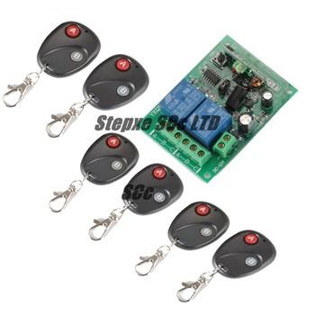2CH RF Wireless Remote Control System For Auto Door Garage Door Window