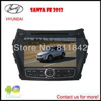 "FREE SHIPPING New 7"" Car DVD Player for Hyundai Santa Fe 2013 with GPS,Bluetooth,Ipod,TV,Russian menu language"
