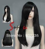 "Long 24"" Black Straight Heat Resistant Fashion Hair Wig"