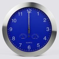 free shipping mute living room wall clock temperature and humidity meter quartz pocket watch radio wave clock II