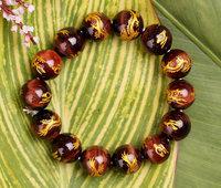 Fashion Bracelets Natural red tigereye dragon bracelet bracelets tiger clear stone bracelet 12mm Men  Free shipping