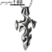 Flame cross male necklace fashion accessories decoration boys pendant hangings