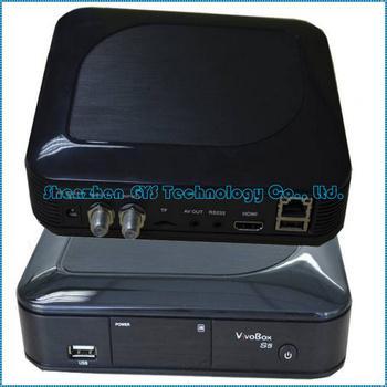 ViVobox S5 twin tuner satellite receiver with android 4.0 tv box hd media receiver DVB-S2 Free SKS for Nagra 3 WIFI USB