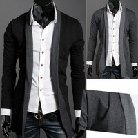 2013 men's spring and autumn clothing color block male business casual cardigan sweater outerwear