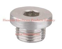 aluminum oil drain plug round type