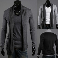2012 spring and autumn male fashionable casual slim long-sleeve cardigan thin sweater outerwear
