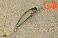 Minnow Fishing Lures, 70mm/7g Swim Bait Plastic Bass Lure Fishing Hard Bait Small Fishing Bait With Two 6#VMC Hooks