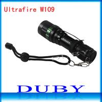 High quality CREE Q5 7W 300LM 3-mode adjustable Brightness Waterproof led flashlight Free shipping