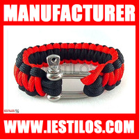Free shipping Newest style wholesale paracord metal clasps metal buckle survival paracord bracelet buckles  for sale