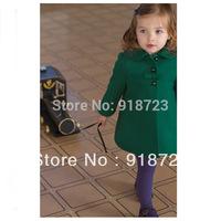 2014 new brand autumn and winter European  American children's clothing monsoon girls woolen coat children coat high-end goods