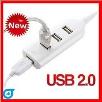 Mini USB 2.0 High Speed 4-Port  USB HUB Sharing Switch For Laptop PC Notebook Computer, Black/White free shipping 100pcs/lot