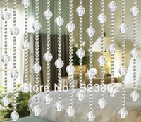 Free shipping cheap crystal glass bead curtains for door & window decoration