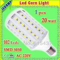 102 epistar 5050 smd lamps led bulb e27 20w 220v ac_ led corn light e27 warm / white light free shipping