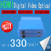 Free shipping  HDMI one fiber optic Extender  HD Video Optical 1080P (single mode single fiber SC)