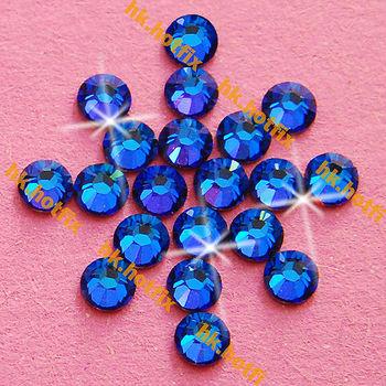 GENUINE Swarovski Elements ss16 Meridian Blue ( MBLUE ) 720 Iron On Hotfix 16ss Flatback Round Crystal Craft Hot-fix Rhinestone