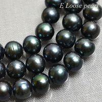 Freshwater Pearl Near Round Potato pearl Black Loose Pearl Beads 7.5-8.5mm 48pcs Full Strand Item No : PL2192