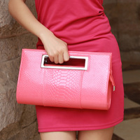 2013 crocodile pattern japanned leather female handbag messenger bag summer women's handbag day clutch evening bag bags