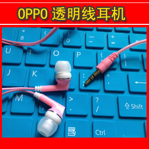 For oppo   earphones multicolour earphones transparent line thick crystal line earphones in ear earphones