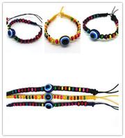 Free Shipping Fashion Cute Candy turkish evil eye pendant charms friendship bracelets unique jewelry for women 12pcs/lot