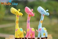 FREE SHIPPING New Cute Stuffed Animal Doll 11'' Plush Colorful Rainbow Giraffe Soft Toy Birthday Christmas Gift For Kids Baby