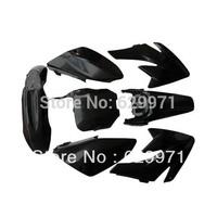 Black Pit Bike CRF70 plastics body kit   CRF70 THUMPSTAR dirt bikes