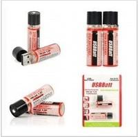 4PCS/LOT  New USB AA 1450mAh 1.2V Ni-MH Rechargeable Battery black